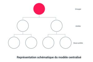 Représentation schématique du modèle centralisé - Gouvernance data