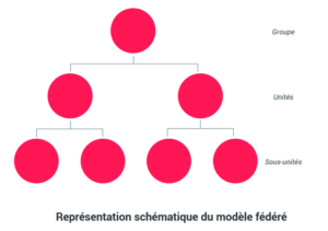 Représentation schématique du modèle fédéré - Gouvernance data
